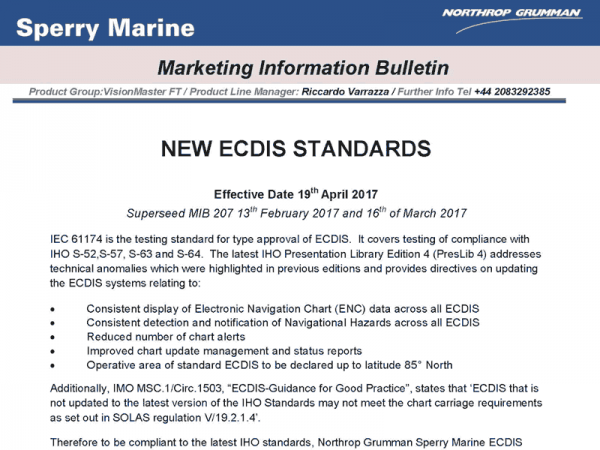 NEW ECDIS STANDARDS
